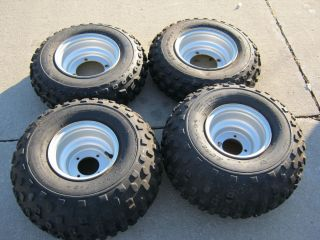 Stock Rims Tires Wheels from 2004 Yamaha Blaster ATV Used Low Hours