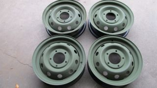 Set of 4 Wheels 700x16 M151 Jeep Army Military