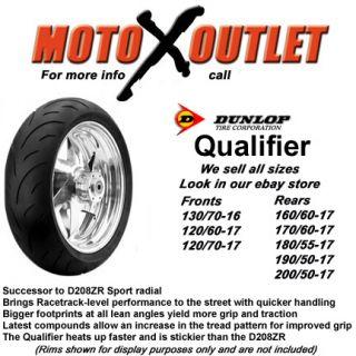 Dunlop Qualifier Motorcycle Tire 190 50 17 Replace D208