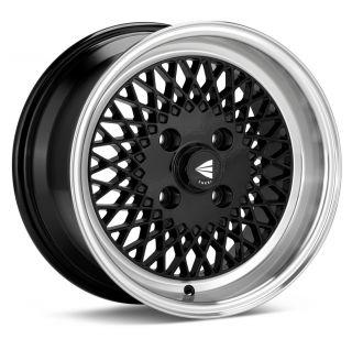 15x7 Enkei ENKEI92 Black Wheel Rim s 4x100 4 100 15 7