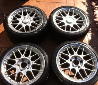 BBs Rsii 2 Piece Polished Lip Wheels Rims Porsche 18in