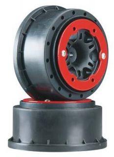 Pro Line 2715 04 Split Six Bead Lock Wheels 2 2 2 3 0 Black Red Slash
