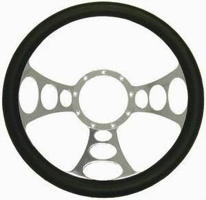 Orbiter Half Leather Wrap Steering Wheel