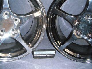 5102 5104 17 18 Corvette C5 5 Spoke Black Chrome Plated 5 yr 100K