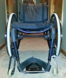 GPS Lightweight Compact Folding Wheelchair Quick Release Wheels