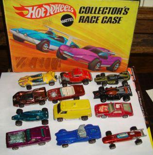 VINTAGE HOT WHEELS BYE FOCAL COLLECTOR CASE 1969 MATTEL 12 CARS