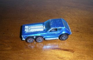 RARE Vintage Redline Hot Wheels Blue Open Fire