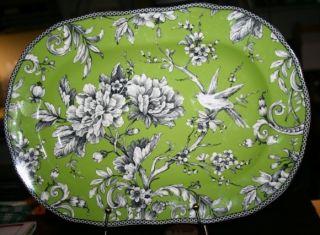 222 Fifth Adelaide Green White 14 x 10 Platter