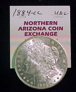 1884 CC Morgan Silver Dollar Toned UNC Nice