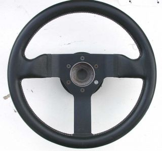 Vintage 1984 Momo Formed Leather Steering Wheel May Fit Early Ferrari