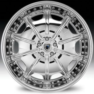 19 asanti AF204 Chrome Wheels Rims 3 Piece