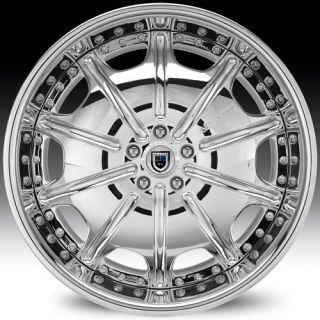 19 asanti AF204 Chrome Wheels Rims 3 Piece