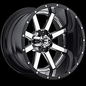 Maverick D260 2pc Wheel Set Chrome 22x10 Rims 2piece Wheels