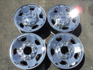 Ford F250 F350 Chrome Clad Original Factory 18 Rims Wheels Set