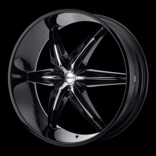 22 x9 5 Helo HE866 866 Black Wheels Rims 5 6 8 Lug