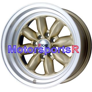 16 16x8 XXR 513 Gold Rims Wheels Deep Dish Lip 4x4 5 Datsun 240z 260z