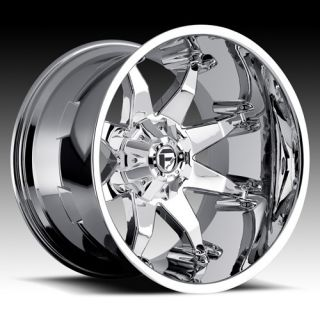 FUEL OFF ROAD CHROME WHEELS 20 X 12 OCTANE CHEVY SILVERADO GMC SIERRA