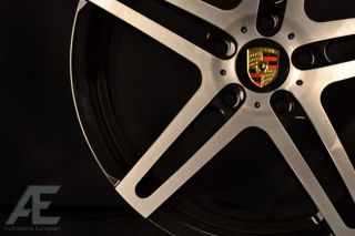 Porsche 911 Carrera S C2S C4 Wheels Rims and Tires RW5 Black Brush