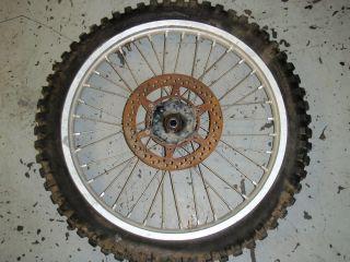 1988 Suzuki RM250 RM 250 Front Wheel Rim Disc Brake Hub Assy