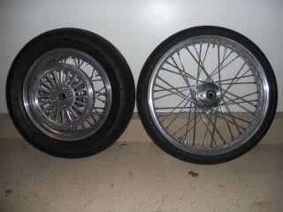 bobber chopper dual disc AKRONT billet rims tires front and rear