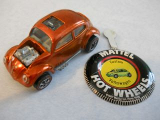 Hot Wheels Redline Spectraflame Custom Volkswagen Orange VW with Badge