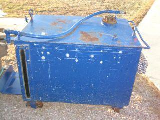 Holding Transfer Storage Utility Tank on Iron Wheels