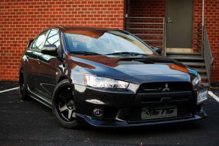 ES221 5x114 3 Black Wheel Fit Lancer Evolution EVO x 8 9 10 Rim