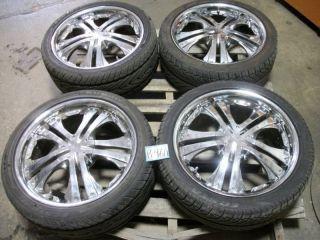 Kumho Ecsta AST 225 40R18 Tires w Chrome Veloche Rims