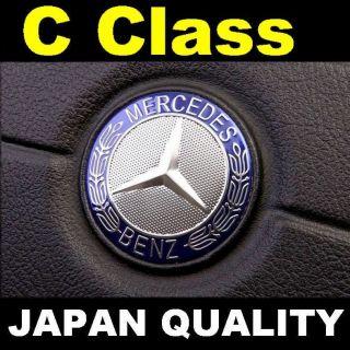 Mercedes Benz Blue Logo C Class Steering Wheel Emblem Horn Badge W202