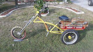 Custom Motorized Trike with Stingray Wheels Extended Front Three Wheel