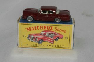 53B Mercedes Benz 220SE Maroon Silver Wheels Nice Boxed Type D