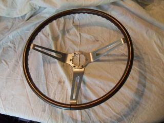 1967 68 Corvette Original Wood Steering Wheel