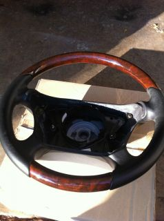 Mercedes Benz 2001 CLK Wood Leather steering wheel CHARCOAL WALNUT W
