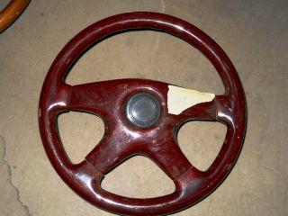 Universal Wood Grain Steering Wheel Old School with Adapter Grant