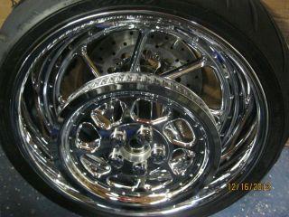 Davidson Roadwinder Front Rear custom wheels Tires Rotors VERY SHARP