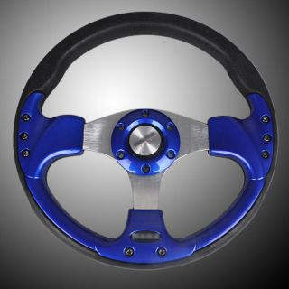 12 315mm PU Sport Car Racing Steering Wheel Horn Button