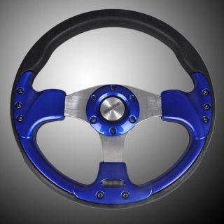 12 315mm PU Sport Car Racing Steering Wheel Horn Button