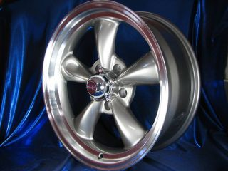 17x8 GRAY REV CLASSIC 100 WHEELS RIMS FOR PLYMOUTH BELVEDERE 1969 1970