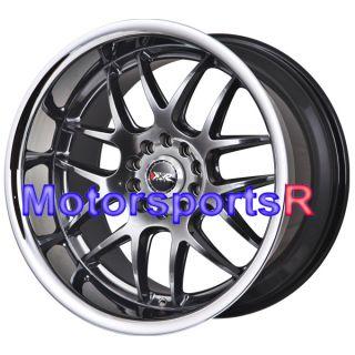 18 XXR 526 Chromium Black Rims Staggered Wheels 98 Nissan 240sx S14 SE