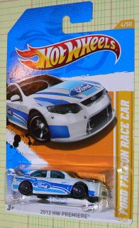 Wheels Premiere Ford Falcon Race Car 4 247 White with Lace Wheels