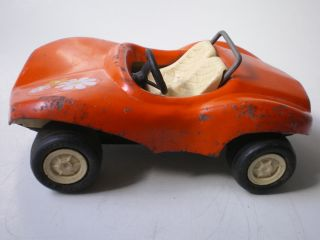 Tonka Mini Dune Buggy White Wheels Orange Body