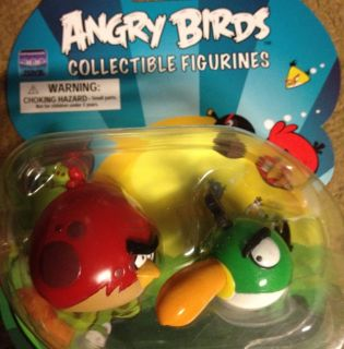 ANGRY BIRDS Collectible Figurines 2 Pack Toucan & Red Fat Bird VHTF