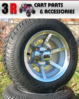 Custom Golf Cart Wheels and Tires 10 ITP SS6M Wheel on 205 50 10 Low