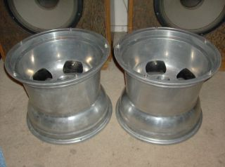 aluminum slotted mag wheels rims gasser dragster roadster altered