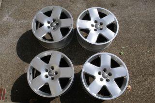 AUDI A8 OEM 18 EURO FAT Flat FIVES Wheels Factory Genuine A4 A6 Jetta