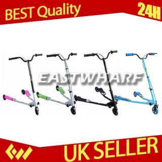Wheelstri x Fliker 3 Type Wheel Scooter Slider Ride Drifter Pink