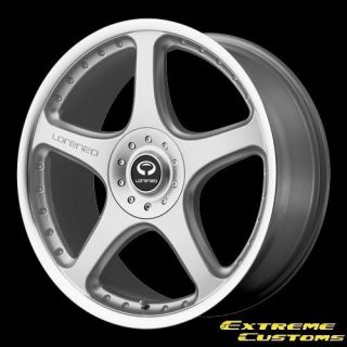 WL028 Silver with Machined Lip 4 5 6 Lug One Single Wheel Rim