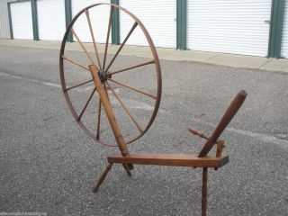 Antique Primitive Spinning Wheel Flax Wheel 1850