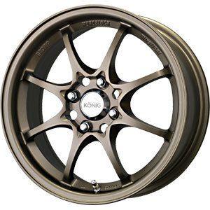 New 15x6 5 4x100 Konig Helium Bronze Wheels Rims