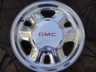 2000 2001 2002 2003 GMC Sierra Yukon 1500 OEM Wheel Rim Polished w Cap